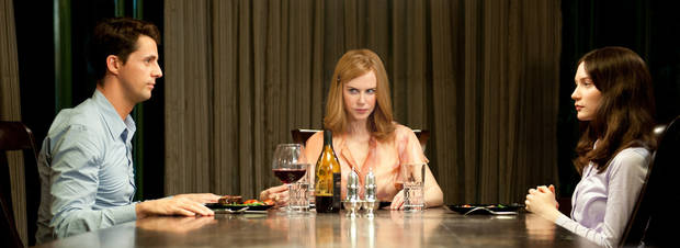 This film image released by Fox Searchlight Pictures shows Matthew Goode, left, Nicole Kidman and Mia Wasikowska, right, in a scene from �Stoker.� AP Photo/Fox Searchlight Pictures