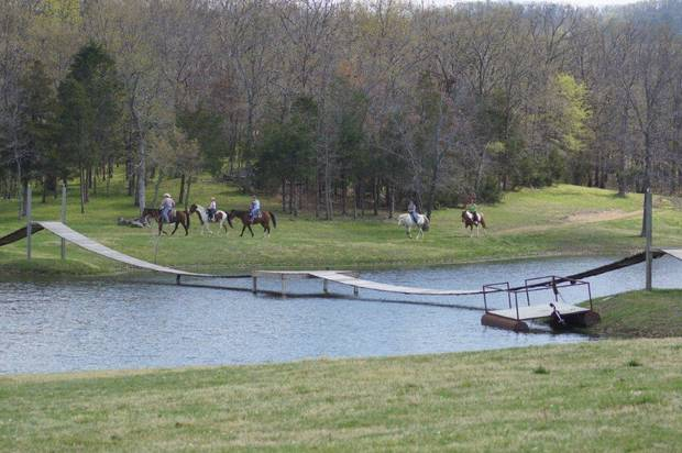 Riding horses is a favorite pastime at for visitors to the Buffalo Creek Ranch near Talihina. Photo provided   <strong></strong>