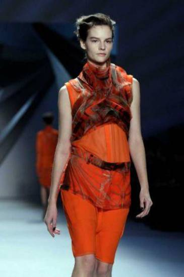 Vera Wang for fall 2012 shown during New York Fashion Week. AP PHOTO