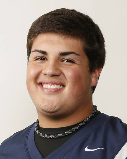 Heath Newland, Edmond North football player, poses for a mug shot during The Oklahoman's Fall High School Sports Photo Day in Oklahoma City, Wednesday, Aug. 15, 2012. Photo by Nate Billings, The Oklahoman
