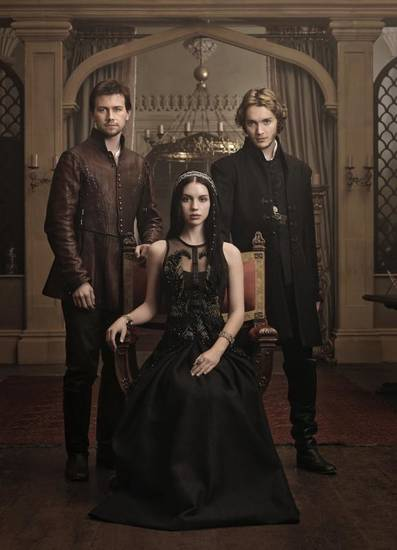 """REIGN"":  (L-R): Torrance Coombs as Bash, Adelaide Kane as Mary, Queen of Scots, and Toby Regbo as Prince Francis -- Photo: Mathieu Young/The CW -- © 2013 The CW Network, LLC. All rights reserved."