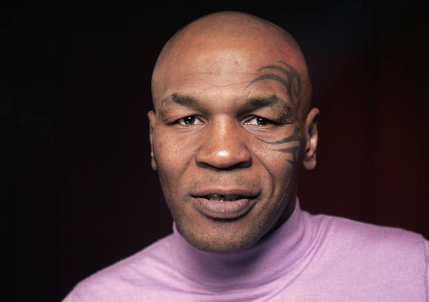 Mike Tyson poses for a portrait Thursday, March 3, 2011 in New York.  (AP Photo/Jeff Christensen) ORG XMIT: NYJC101