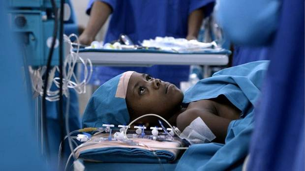 "Angelique, a 6-year-old Rwandan girl, prepares to undergo life-saving heart surgery 2,500 miles from home in the Oscar-nominated short documentary ""Open Heart."" Photo provided. <strong></strong>"
