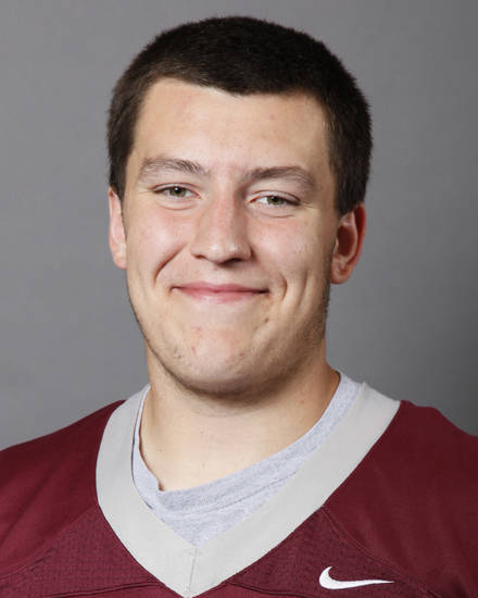 Lucas Gerdes, Edmond Memorial, poses for a mug shot at The Oklahoman's photo day for spring high school football in Oklahoma City, Wednesday, May 16, 2012. Photo by Nate Billings, The Oklahoman