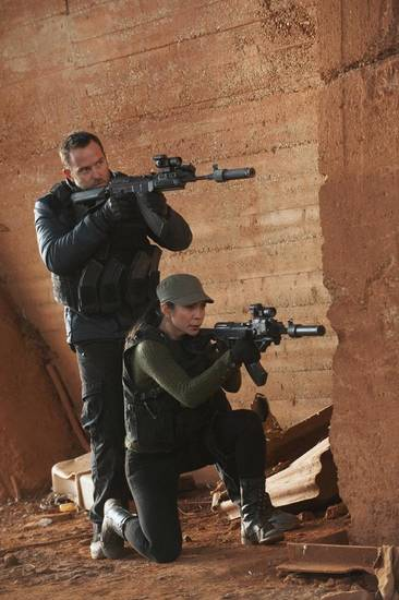 Sullivan Stapleton and Michelle Lukes. Photo credit: Liam Daniel/Cinemax