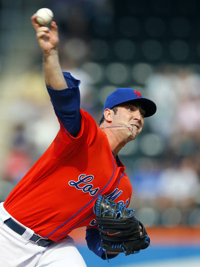 New York Mets starting pitcher Matt Harvey throws in the first inning of an interleague baseball game against the Detroit Tigers at Citi Field in New York, Saturday, Aug. 24, 2013. (AP Photo/Paul J. Bereswill)
