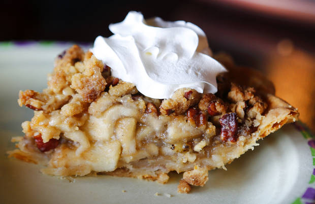 Green chili apple pie at the Green Chili Kitchen in Yukon, Friday  January  11, 2013. Photo By Steve Gooch, The Oklahoman