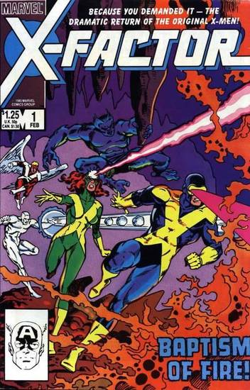 Cover to X-Factor #1 (1986) starring the original X-Men.