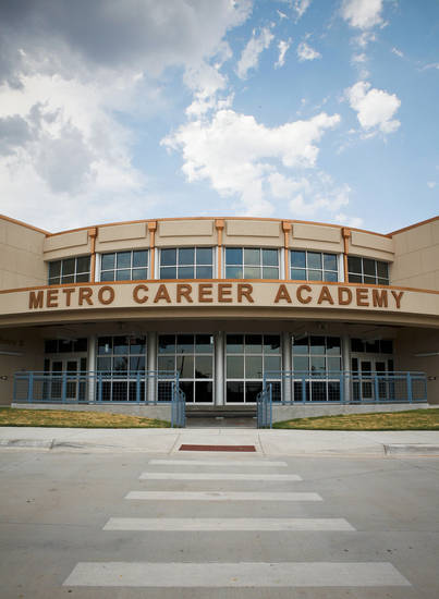 Metro Technology Centers' Metro Career Academy, 1901 Springlake Drive, was awarded LEED Gold certification last October. the first LEED Gold-certified CareerTech building in Oklahoma. <strong>ZACH GRAY - The Oklahoman</strong>