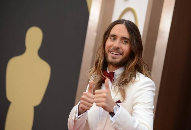 Jared Leto is the favorite to win the best supporting actor Oscar. (AP)