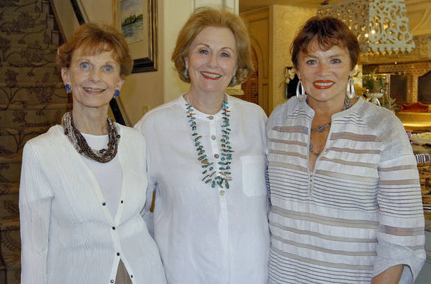 From left: Beth Tolbert, Suzanne Cunningham, Kitty Champlin. PHOTOS BY CHRIS LANDSBERGER, THE OKLAHOMAN