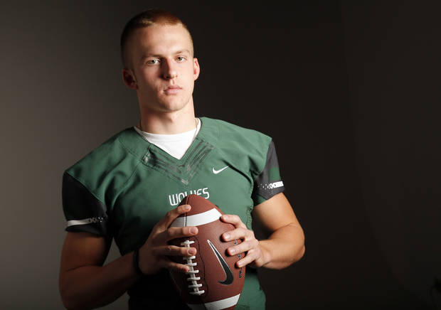 Edmond Santa Fe High School football player Justice Hansen player poses for a photo in Oklahoma City Monday, Dec. 17, 2012. Photo by Nate Billings, The Oklahoman