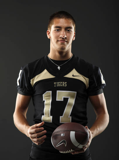 HIGH SCHOOL FOOTBALL: All-State football player Levi Copelin, of Broken Arrow, poses for a photo in Oklahoma CIty, Wednesday, Dec. 14, 2011. Photo by Bryan Terry, The Oklahoman