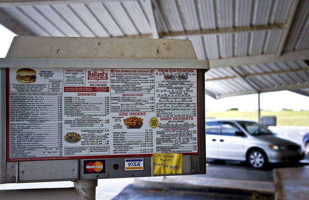 Ballard's Drive-In located in Pauls Valley, Okla. Monday, July 16, 2012.   Photo by Chris Landsberger, The Oklahoman