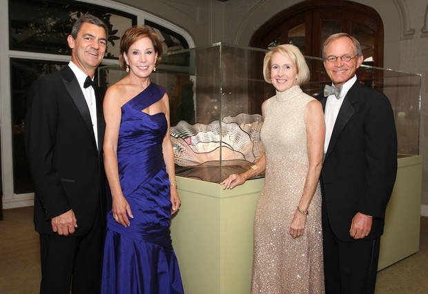 Co-chairmen Elby and Tina Beal pose with honorary chairmen Christy and Jim Everest at the Renaissance Ball.