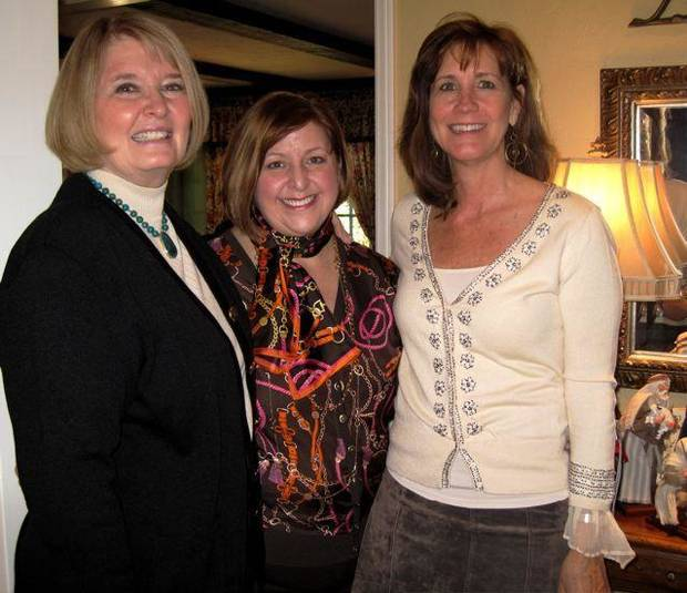 CELEBRATING THE BOOK...Cherry Kay Clifford, Cindy Hazelwood and  Claudia Robertson. ( Photo by Helen FOrd Wallace).