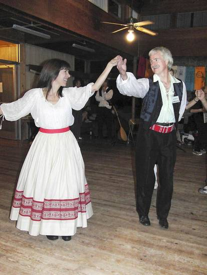 Karen and Alan Murray, of Dallas, dance at an Old Country Weekend event of the Oklahoma City  International Folkdancers. Photo provided