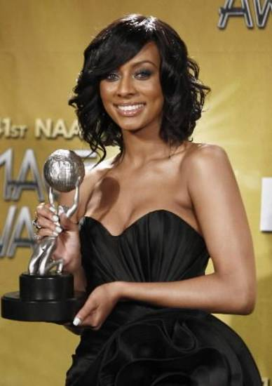 Keri Hilson won best new artist at the NAACP Image Awards. (AP Photo/Matt Sayles)