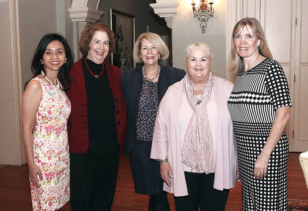 Mei Cheng, Ann Marshall, Kathy Walker, Peg Malloy, Crist Reiger. Photo by David Faytinger for The Oklahoman__