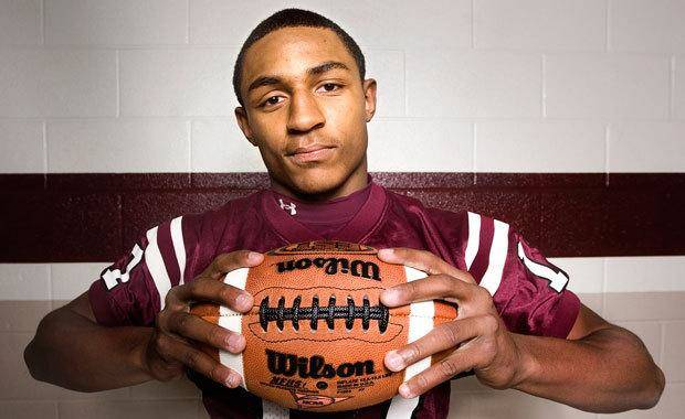 Trey Metoyer, sophomore wide receiver for the Whitehouse Wildcats is, the Tyler Morning Telegraph 2009 All-ET Newcomer of the Year.  Wednesday, January 14, 2009. Photo By Tom Turner, Tyler Morning Telegraph