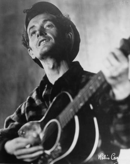 Woody Guthrie CREDIT: Courtesy of Photograph by Robin Carson, Courtesy of the Woody Guthrie Archives