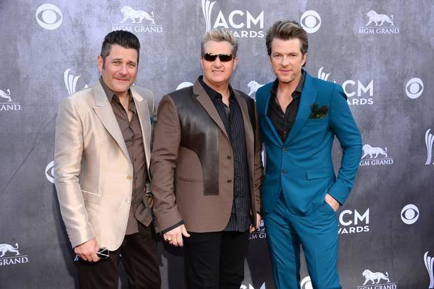 From left, Jay DeMarcus, Gary LeVox and Joe Don Rooney of Rascal Flatts are canceling Thursday's OKC show due to illness. AP file photo.