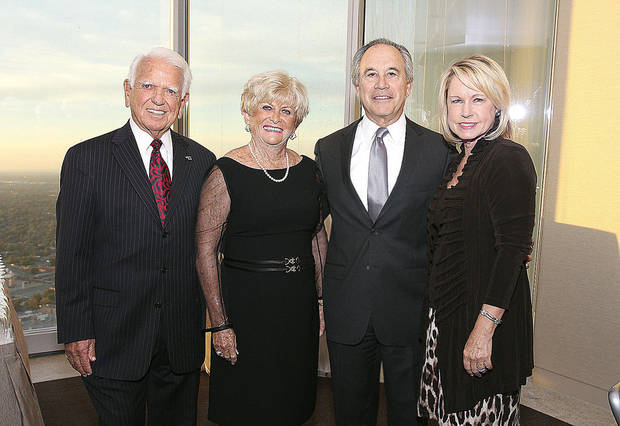 Former Gov. George and Donna Nigh and former Gov. David and Rhonda Walters. PHOTOS BY DAVID FAYTINGER, FOR THE OKLAHOMAN