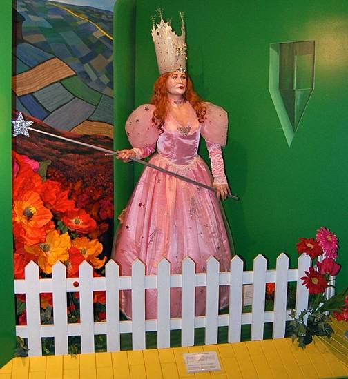 A life-size figure of Glinda the Good Witch from the Oz Museum in Wamego, Kansas. Photo by Annette Price, for The Oklahoman. <strong></strong>