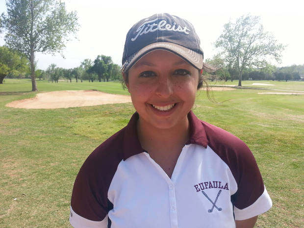 CLASS 3A GIRLS HIGH SCHOOL GOLF / STATE TOURNAMENT: Faith Lasiter, Eufaula girls golfer. Photo by Ed Godfrey, The Oklahoman. KOD