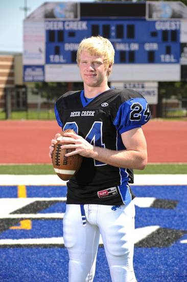 Deer Creek junior LB Kooper Ruminer visited Kansas this weekend. PHOTO PROVIDED