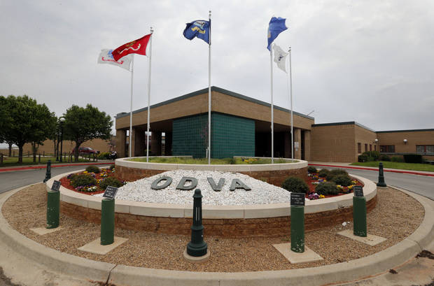 The entrance of the Oklahoma Department of Veterans Affairs center is shown Wednesday in Norman. Photo by Steve Sisney, The Oklahoman