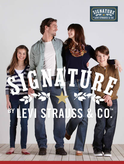 Quality is Our Signature: New Signature by Levi Strauss & Co. jeans offer superior fit, comfort and style at Walmart for under $20.  (PRNewsFoto/Levi Strauss & Co.)