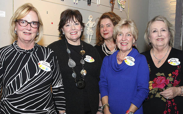Phebe Kallstrom, Jane White, Linda Warren, Susan McPherson, Sally Burpee. Photo by David Faytinger for the Oklahoman__