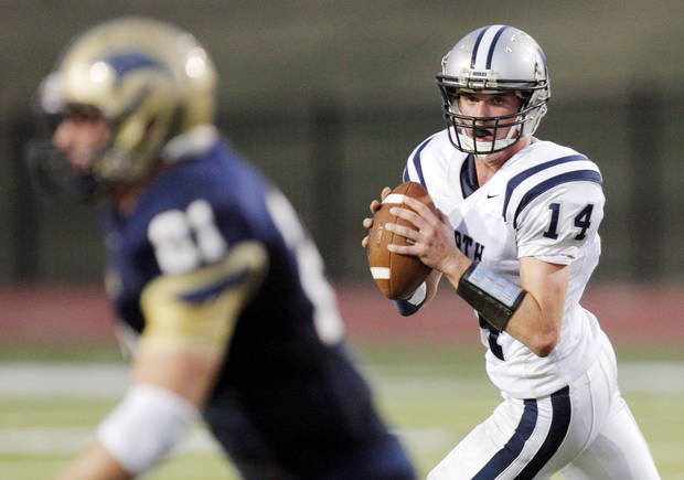 Edmond North quarterback Jesse Mathews has thrown nine touchdowns through three games this season. PHOTO BY NATE BILLINGS, THE OKLAHOMAN