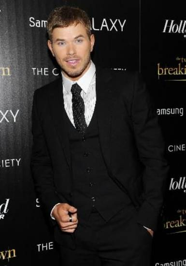 "Cast member Kellan Lutz attends a special screening of ""The Twilight Saga: Breaking Dawn - Part 2"" hosted by The Cinema Society and The Hollywood Reporter on Thursday, Nov. 15, 2012 in New York. (AP)"