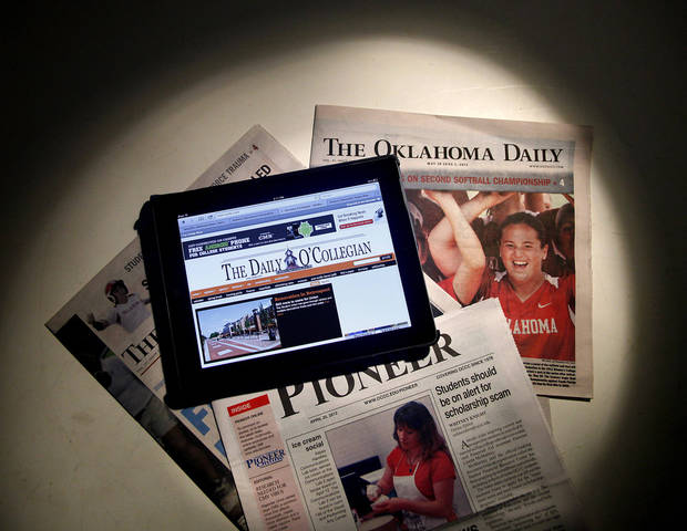 College newspapers, print and digital Wednesday June 20, 2012. Photo by Doug Hoke, The Oklahoman