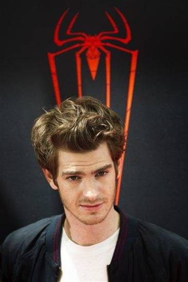 Actor Andrew Garfield poses during a photo-call to promote the movie 'The Amazing Spiderman in Madrid, Thursday, June 21, 2012. (AP Photo/Daniel Ochoa de Olza)