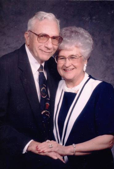 Troy and Doris Enos, of Oklahoma City, were married June 25, 1947, in Henretta, Texas.