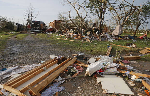 A home that was damaged by a tornado that moved through Carney Okla., on Sunday, May 19, 2013. Photo by Bryan Terry, The Oklahoman