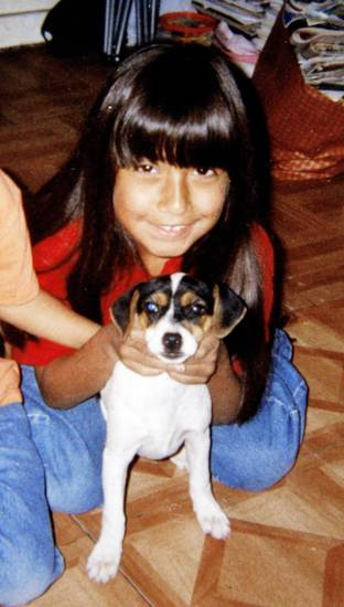 In this family photo, Vicky Galindo is with her dog, Oreo, who died. PHOTO PROVIDED