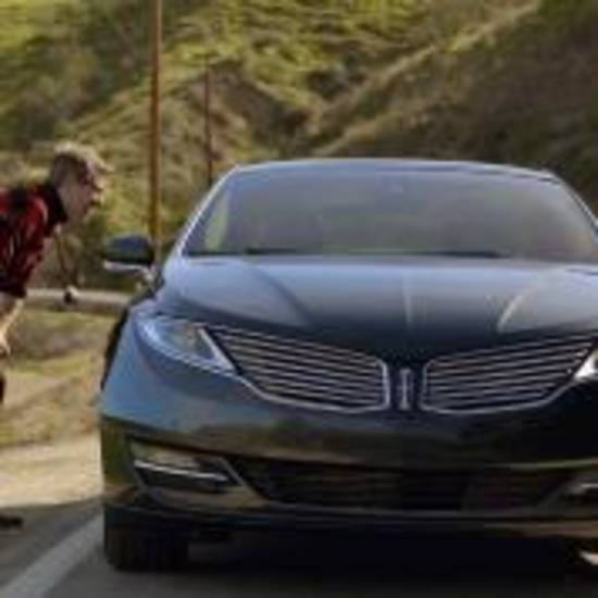 "This undated screenshot provided by Ford shows the company's Super Bowl advertisement. Ford Motor Co. enlisted late-night talk show host Jimmy Fallon to choose road trip stories submitted by Twitter  to base its Super Bowl commercial for Lincoln. The story line for the 30-second ad was developed from 6,117 Tweets about road trips and features rapper Joseph ""Rev Run"" Simmons, and Wil Wheaton, who acted in the iconic science-fiction series ""Star Trek: The Next Generation..""( AP Photo/Ford)"