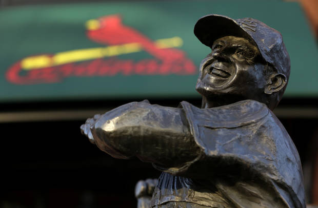 A statue of former St. Louis Cardinals baseball player Stan Musial stands outside Busch Stadium Sunday, Jan. 20, 2013, in St. Louis. Musial, one of baseball&#039;s greatest hitters and a Hall of Famer with the Cardinals for more than two decades, died Saturday, Jan. 19, 2013, the team announced. He was 92. (AP Photo/Jeff Roberson)