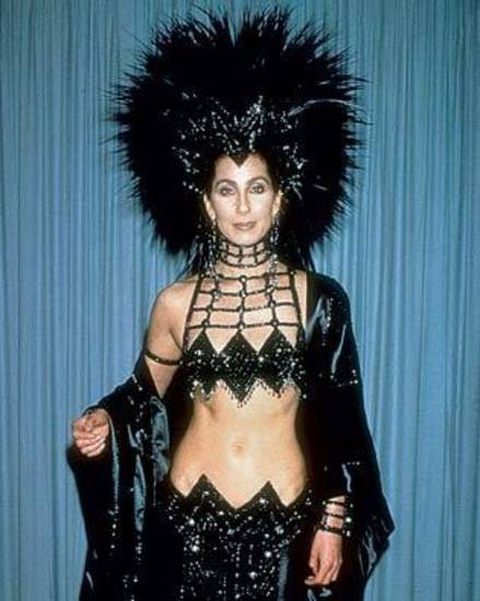 Cher at the 1986 Oscars in this spider-headdressed Bob Mackie creation.