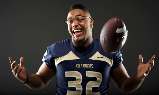 All-State football player Quintaz Struble, of Heritage Hall, poses for a photo in Oklahoma CIty, Wednesday, Dec. 14, 2011. Photo by Bryan Terry, The Oklahoman