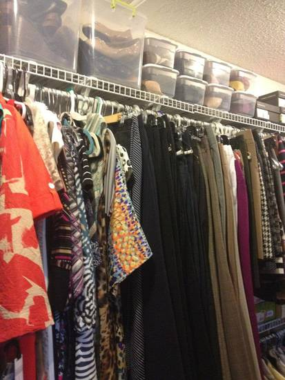 A closet organized by The Riley Group is shown.  PHOTO PROVIDED