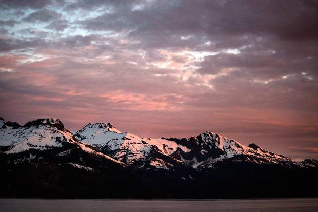 Sunrise in Kelp Bay, Alaska, June 6, 2012.
