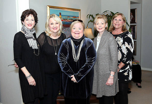 Susie Gray, Ann Fleming, Linda Tate, Michele Hughes, Lynne Alexander. Photo by David Faytinger for The Oklahoman____