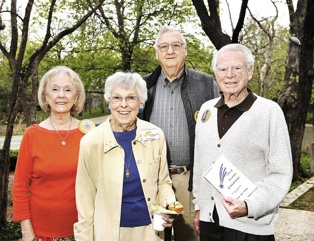 Cecelia Cole, Joanne Lawrence, Jim Gonders, Noel Kruger.  Photo  by Jim Beckel, The Oklahoman.