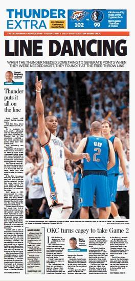 Game 2: Thunder-Mavericks, May 1, 2012