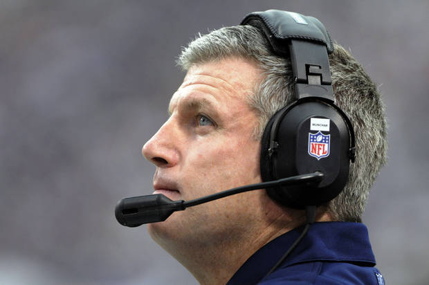 Tennessee Titans head coach Mike Munchak looks on during the first half of an NFL football game against the Minnesota Vikings, Sunday, Oct. 7, 2012, in Minneapolis. (AP Photo/Jim Mone)